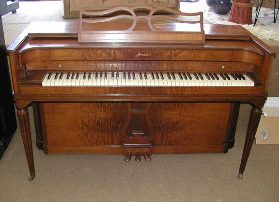 1951 baldwin acrosonic 36 spinet piano for Small upright piano dimensions