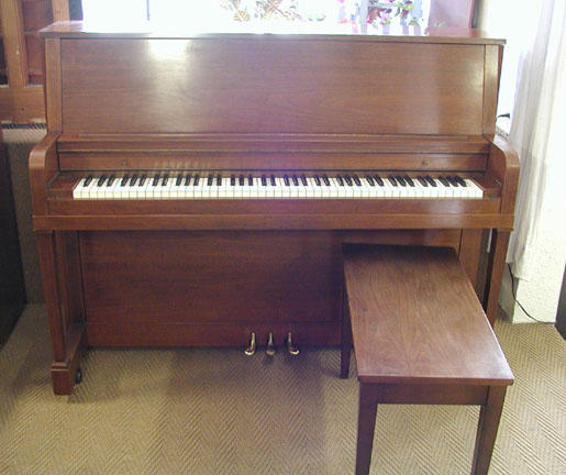 1960 everett 45 studio pianopiano for Small upright piano dimensions