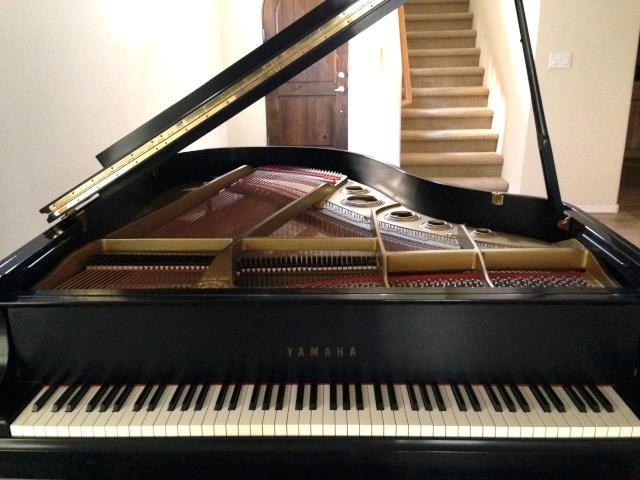Yamaha c3 6 39 1 grand piano for Yamaha c3 piano dimensions